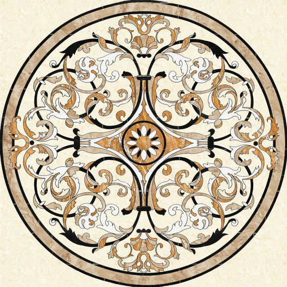 Medallion Round   PH022-1 by Gani Marble Tiles   Natural stone panels
