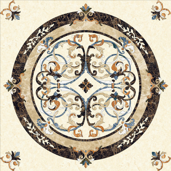 Medallion Round | PH023 by Gani Marble Tiles | Natural stone panels