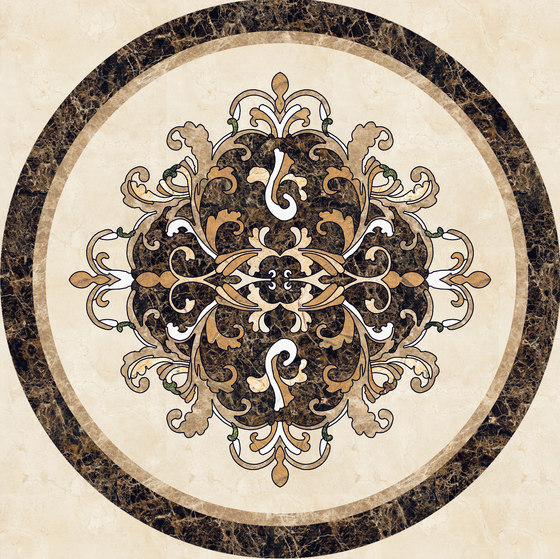 Medallion Round | PH043 by Gani Marble Tiles | Natural stone panels