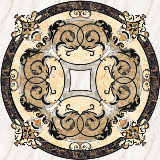Medallion Round | PH070 by Gani Marble Tiles | Natural stone panels