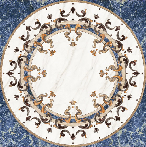 Medallion Round   PH089 by Gani Marble Tiles   Natural stone panels