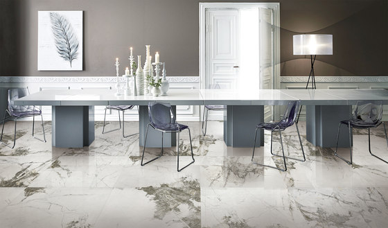 White | Gamper by Gani Marble Tiles | Natural stone panels