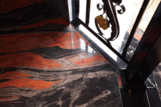 Red Marble Floor : Red butterfly natural stone panels from gani