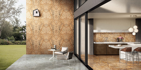 Brown | Rainforest Brown - Polished by Gani Marble Tiles | Natural stone panels