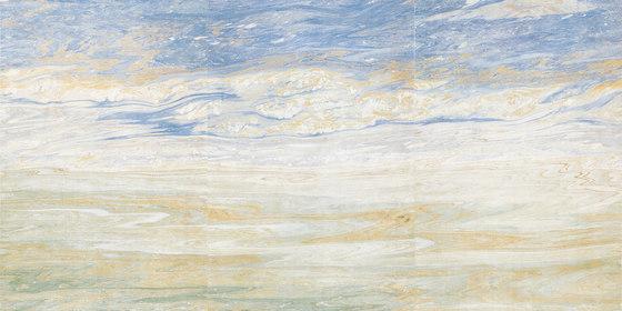 Featuring Wall | Blue Ocean de Gani Marble Tiles | Panneaux en pierre naturelle