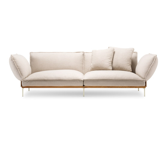 Jord Sofa 2 seater with armrests di Fogia | Divani