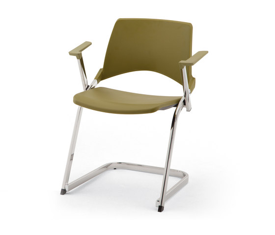 laKENDÒ PLASTIC CANTILEVER ARMCHAIR by Diemmebi | Chairs