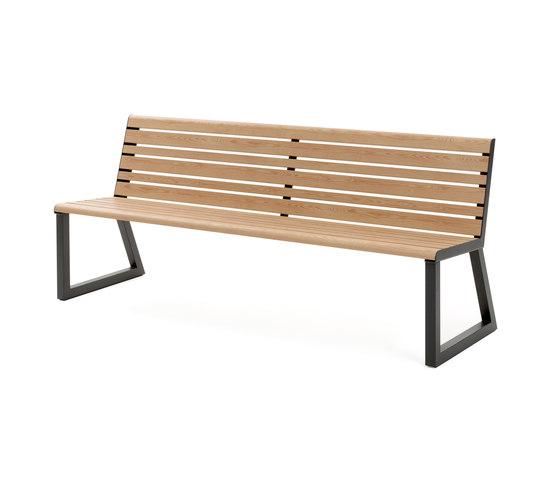 VENTIQUATTRORE.H24 SEAT WITH BACKREST de Diemmebi | Bancos