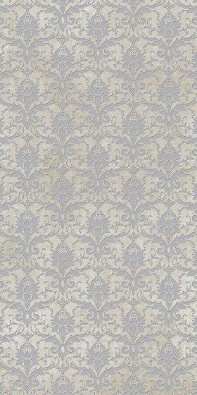 Tesori Broccato Bianco Decoro Argento di FLORIM | Piastrelle ceramica