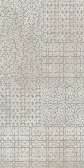 Tesori Monile Bianco Decoro Argento by FLORIM | Ceramic tiles