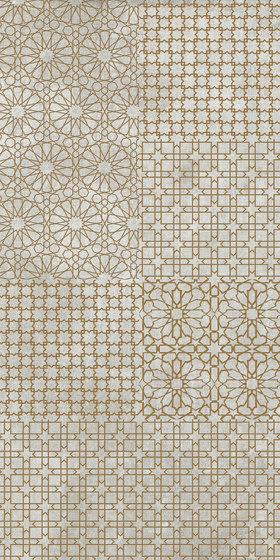 Tesori Monile Grigio Decoro Oro by FLORIM | Ceramic tiles