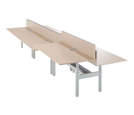 Krossi Workstation de Schiavello International Pty Ltd | Cloisons pour table