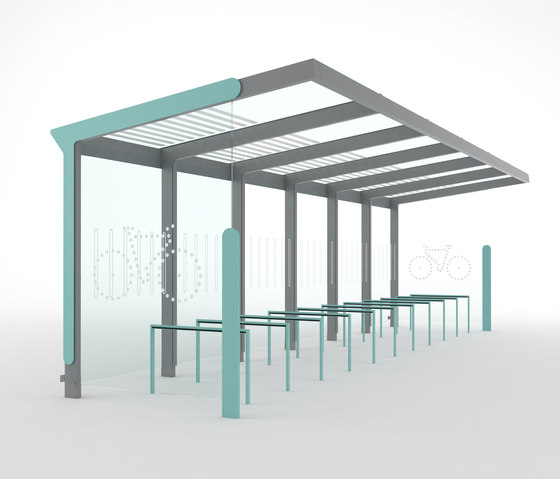 aureo velo   Bicycle shelter by mmcité   Bicycle shelters