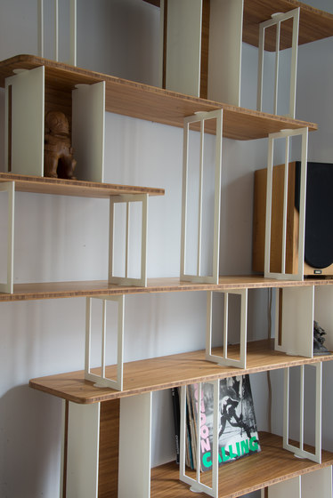 Curve Wood and Steel | Bookshelf by Jo-a | Office shelving systems