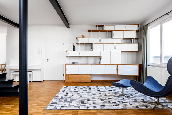 Curve Wood and Steel | Bookshelf by Jo-a | Shelving