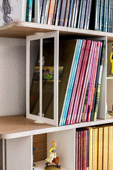 Curve Wood and Steel   Bookshelf by Jo-a   Shelving