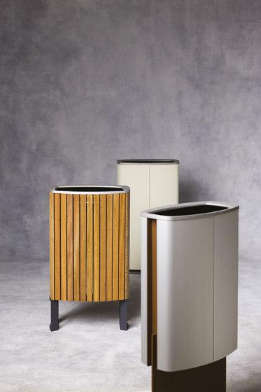 minium | Litter bin with wooden sheating di mmcité | Cestini spazzatura