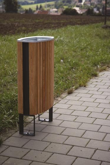 minium   Litter bin with wooden sheating di mmcité   Pattumiere