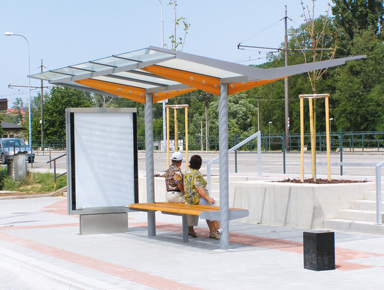 regio |  Two-sided bus stop shelter by mmcité | Bus stop shelters