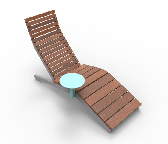 rivage | Lounger with table by mmcité | Chairs