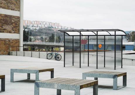 skandum | Shelter for smokers by mmcité | Bus stop shelters
