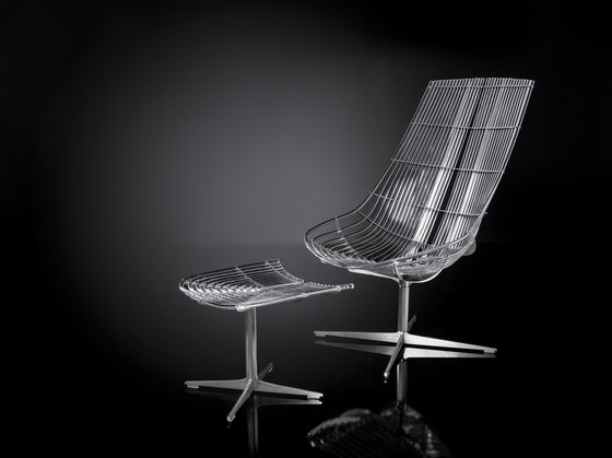 Spline | Lounge Chair with Ottomann by Schütz | Armchairs