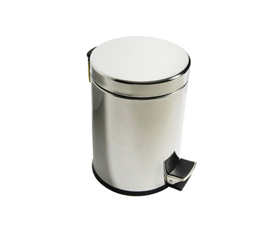 Hotellerie Dustbin with cover and pedal and anti-slip base by Inda | Bath waste bins
