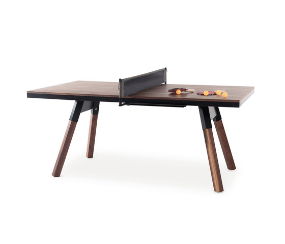 You and Me 180 Ping Pong Table Walnut by RS Barcelona | Dining tables