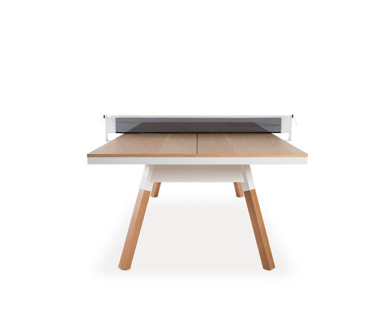 You and Me 220 Ping Pong Table Oak White di RS Barcelona | Tavoli da pranzo da giardino
