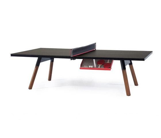 You and Me 274 Standard Ping Pong Table Black de RS Barcelona | Mesas comedor