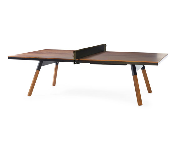 You and Me 274 Standard Ping Pong Table Walnut Black by RS Barcelona | Dining tables