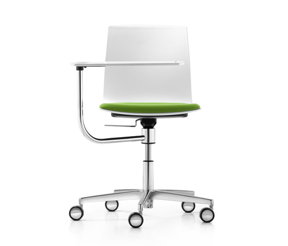 Fiore seminar swivel chair with writing tablet by Dauphin | Conference chairs