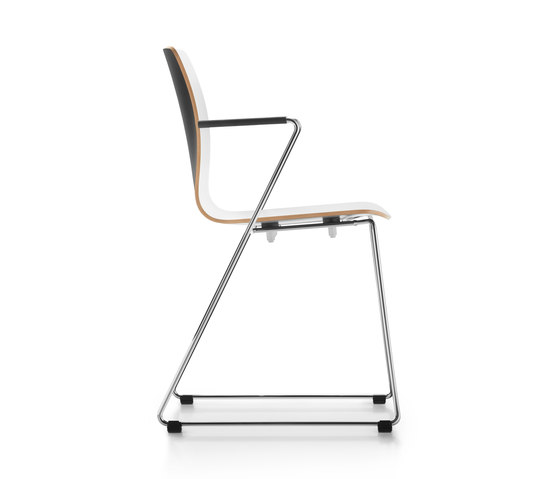 Fiore skid base by Dauphin   Chairs