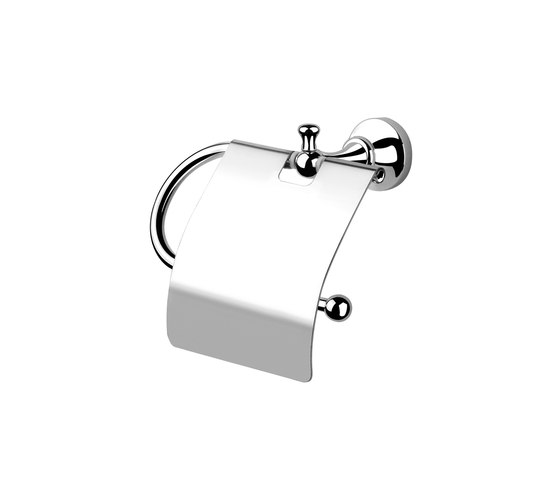 Bloomsbury | Ellington Toilet Roll Holder With Cover by BAGNODESIGN | Paper roll holders