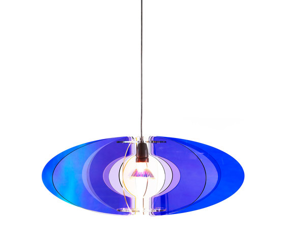 Blossom Pendant 65 Cobalt Blue / Lilac de Bsweden   Éclairage général