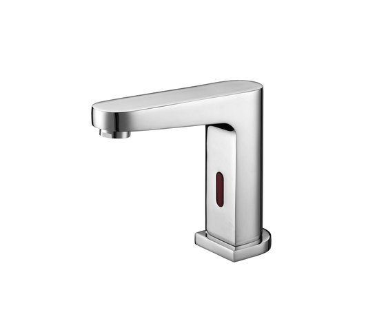 Aquaeco | Deck Mounted Infrared Tap Battery or Mains Operated by BAGNODESIGN | Wash basin taps
