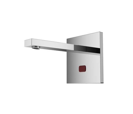 Aquaeco | Eco Square Wall Mounted Infrared Tap by BAGNODESIGN | Wash basin taps