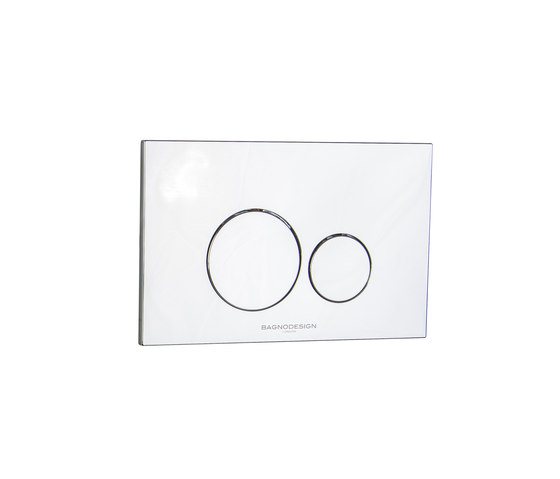 Aquaeco | Flush Plate - Dual Flush System by BAGNODESIGN | Flushes