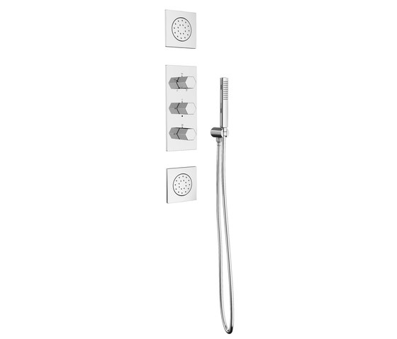 Mirage Thermostatic Shower Mixer With 5 Functions by Pomd'Or   Shower controls