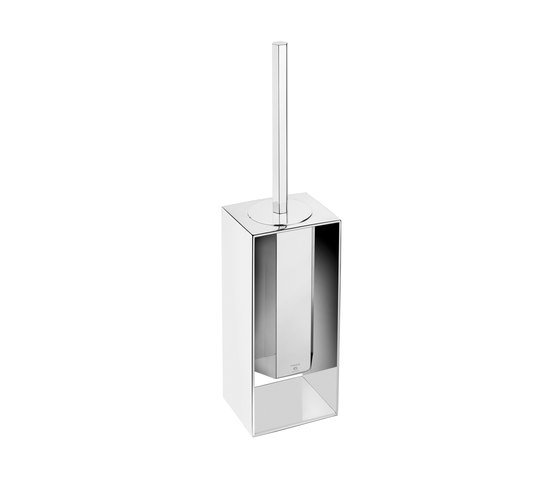 Mirage Free Standing Toilet Brush With Frame by Pomd'Or | Toilet brush holders