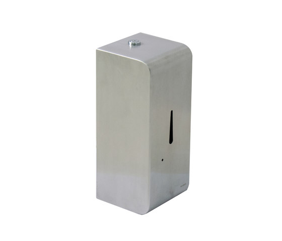IX304 | Wall Mounted Liquid Soap Dispenser With Infrared Sensor Battery Operated Stainless Steel Grade 304 by BAGNODESIGN | Soap dispensers