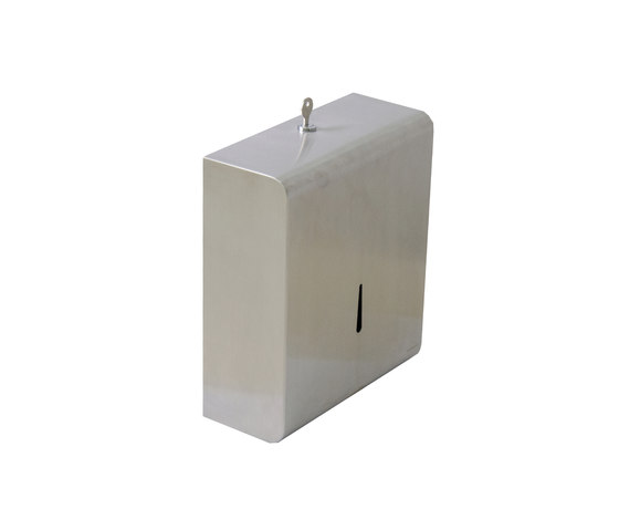 IX304 | Wall Mounted Towel Dispenser With Cylinder Lock And Key by BAGNODESIGN | Paper towel dispensers