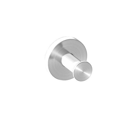 IX304 | Stainless Steel Single Robe Hook by BAGNODESIGN | Towel rails