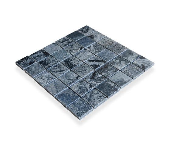Classic Mosaic Squares - Silver Quartzite de Island Stone | Mosaïques verre