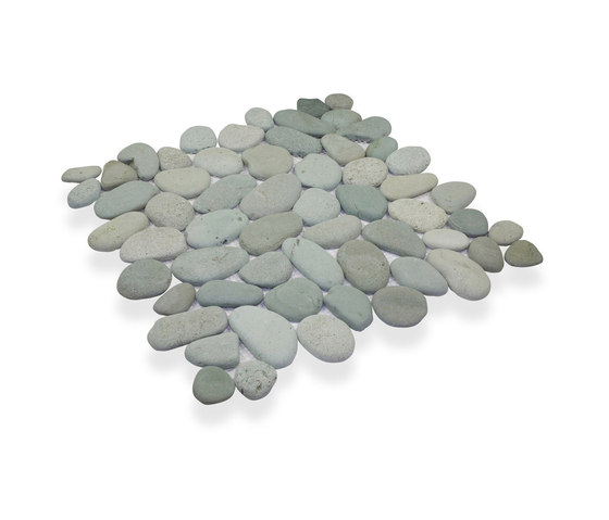 King Pebble - Flores Green Pebble by Island Stone | Natural stone mosaics