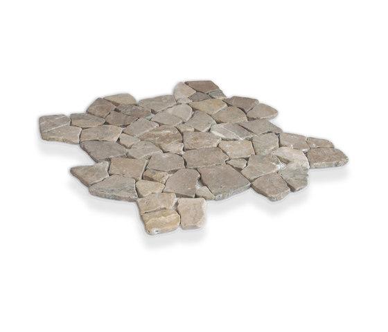 Large Random - Tan Marble de Island Stone | Mosaicos de piedra natural