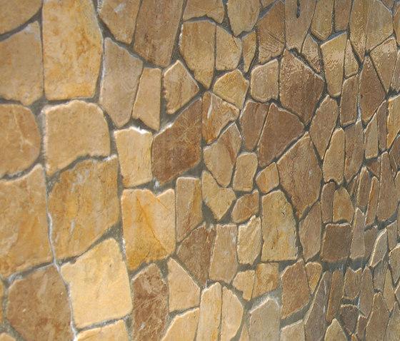 Large Random - Tan Marble by Island Stone | Natural stone mosaics