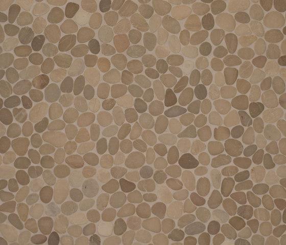 Level Pebble - French Tan Pebble de Island Stone | Mosaïques en pierre naturelle