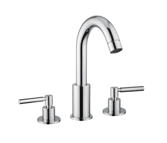 M Line | 3 Hole Basin Mixer With Pop Up Waste by BAGNODESIGN | Wash basin taps