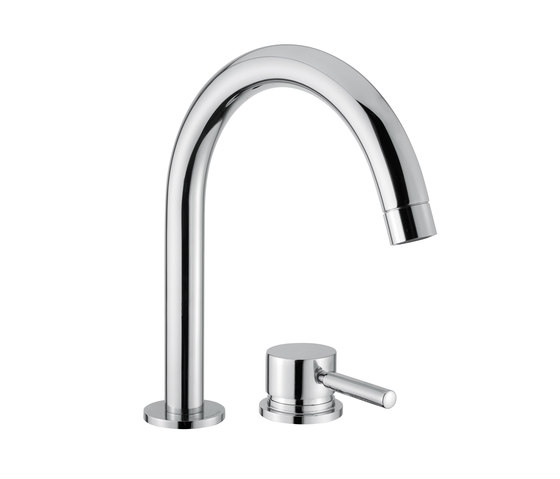 M Line | 2 Hole Deck mounted Basin Mixer by BAGNODESIGN | Wash basin taps